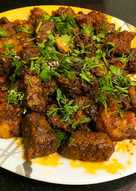 Mutton Masala (Dry) (Boneless)