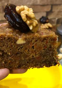 Eggless No Sugar Treat For Christmas – Whole Wheat Carrot Dates Walnut Cake In Cooker