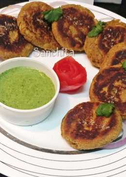 Yam/Elephant foot/Jimikand kababs with  Green tangy dip