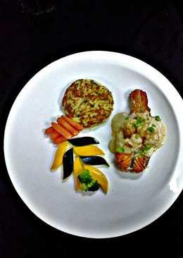 SalmonAnd Shrimp with Rostie Potato