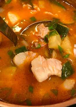 Easy Dwenjang Jjigae (Korean Miso Stew) for 2