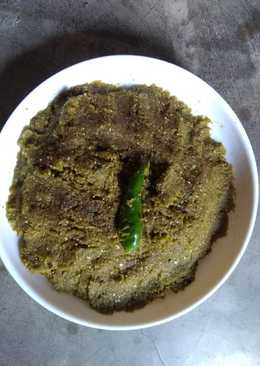 Lauer khosha bata(bottle gourd peel paste)