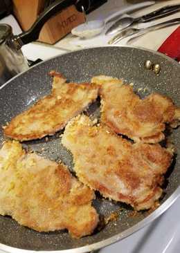 No Egg Cracker Crusted Pork Chops