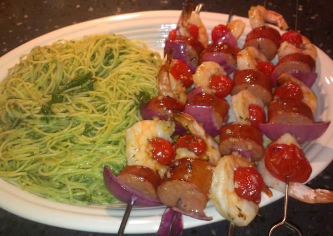 Resep Shrimp & Sausage Kabobs