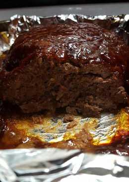 Sharon's BBQ meatloaf