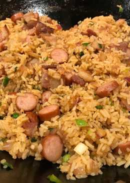 Hot Dog & Bacon Fried Rice