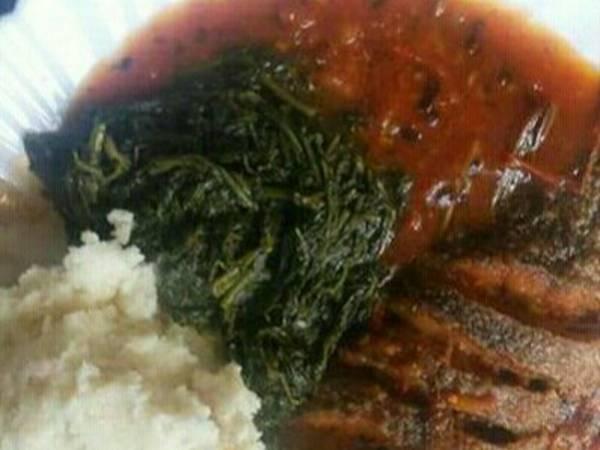 Stewed fish served managu