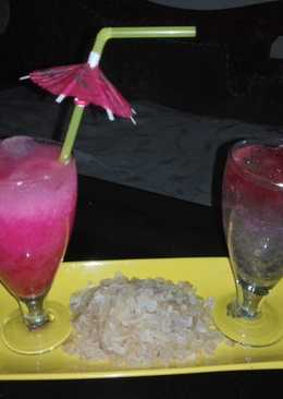 Rooh afza milk with twist of goond katira