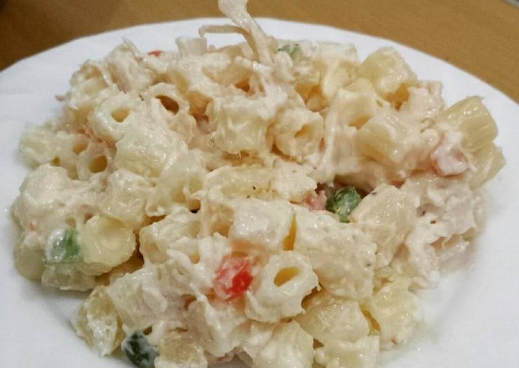 Chicken Macaroni Salad Recipe By Erlin Joy Layosa Cookpad