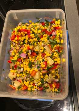 Sweet and sour corn salsa