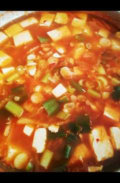 resep masakan seafood kimchi soup