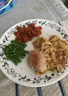 Baked chicken with penne rigate