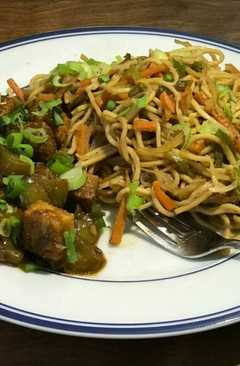 resep masakan chilli tofu and hakka noddles