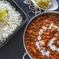 Scrumptious Dal Makhni with Chawal