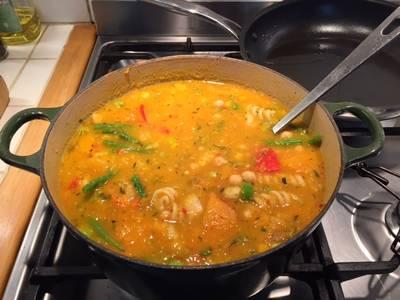 Chunky Vegetable Soup - For Children Who Don't Like Vegetables!
