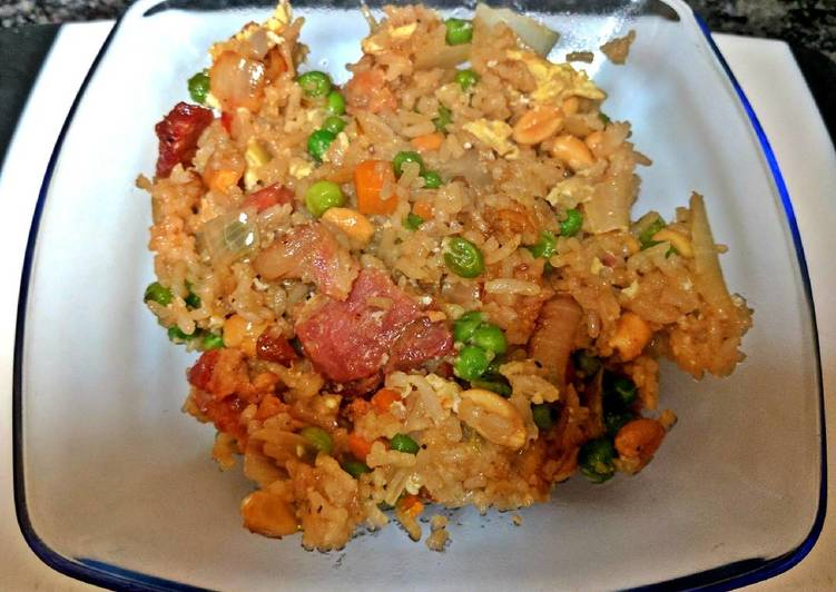 Easy one pan bacon fried rice recipe by fo fa cookpad easy one pan bacon fried rice ccuart Choice Image