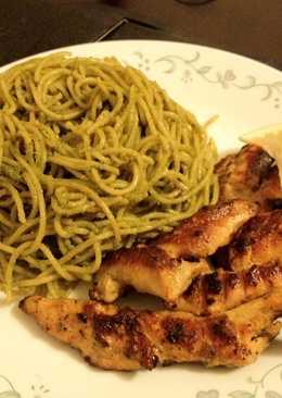 Spaghettini with Asian Inspired Pesto