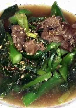 LG VEGETABLE WITH CHICKEN LIVER IN SHAOXING WINE
