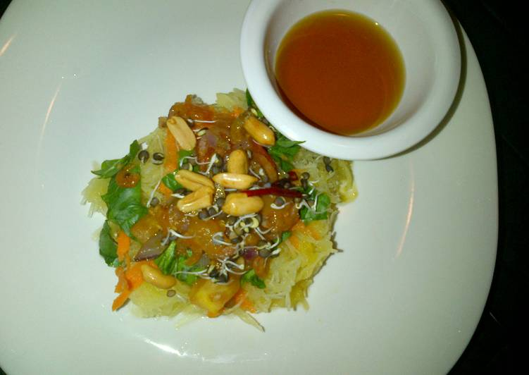 Spaghetti Squash with shrimp
