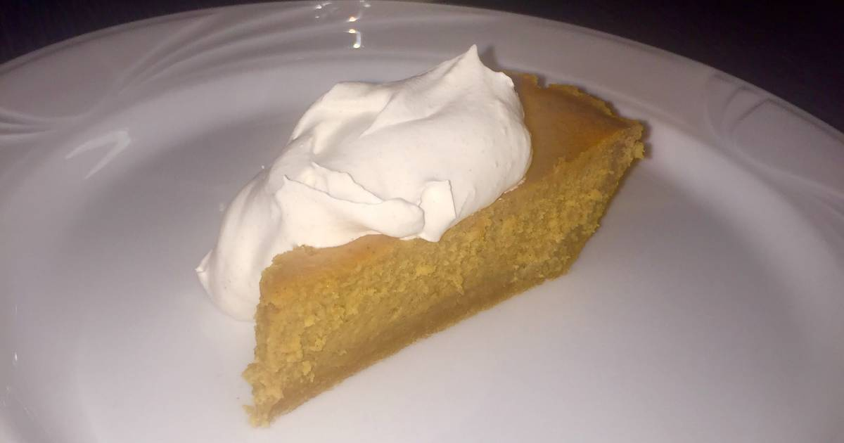 Pumpkin Cheesecake with Spiced Whipped Cream Recipe by ...