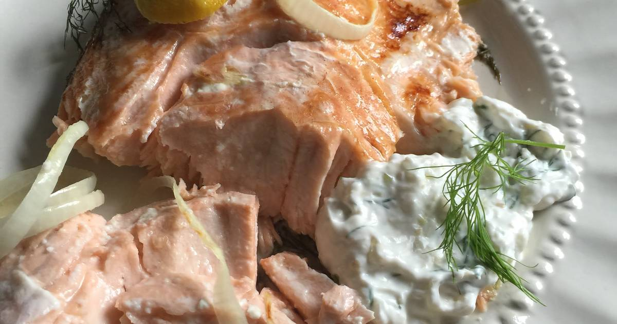 Salmon with Dill and Horseradish Sauce Recipe by Rae - Cookpad