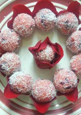 Rose-Coconut Ladoo