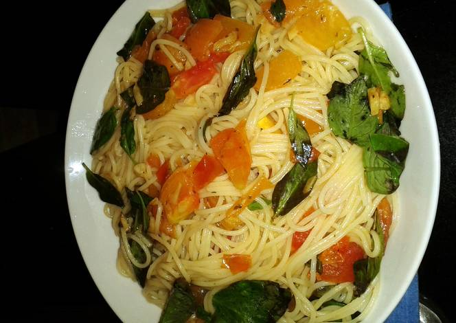 Tomato Basil Pasta Recipe By Ladygkc Cookpad