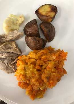 Mashed swede and carrots
