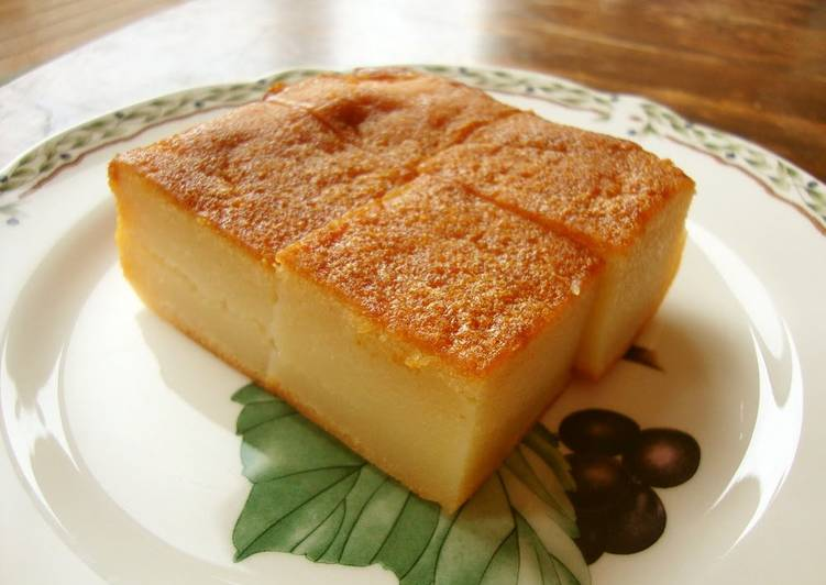 Japanese Butter Mochi Cake Recipe