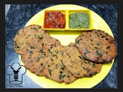 Besan methi ki poori with tomato chutney
