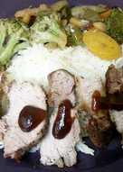 Pork steak cuisine