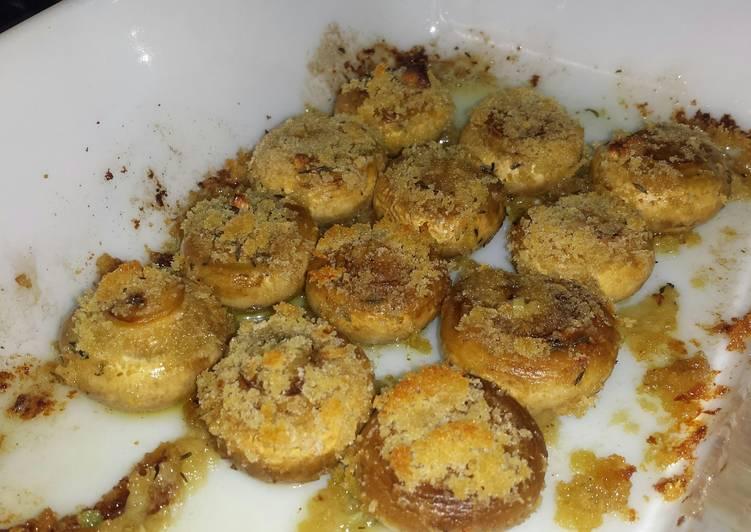 how to make roasted garlic mushrooms