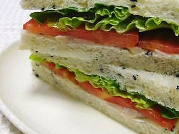 Chicken Ham and Cream Cheese Sandwich