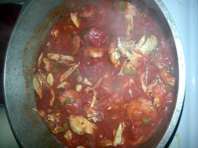 cajun chicken & sausage spaghetti