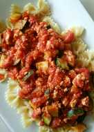 resep masakan tomato sauce with tofu and zucchini
