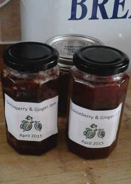 Gooseberry and ginger jam