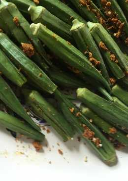 Okra stuffed with spices and Besan