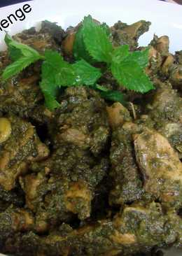 Mint chicken with curd cream