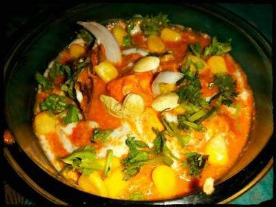 Cashew Corn Paneer Chaman