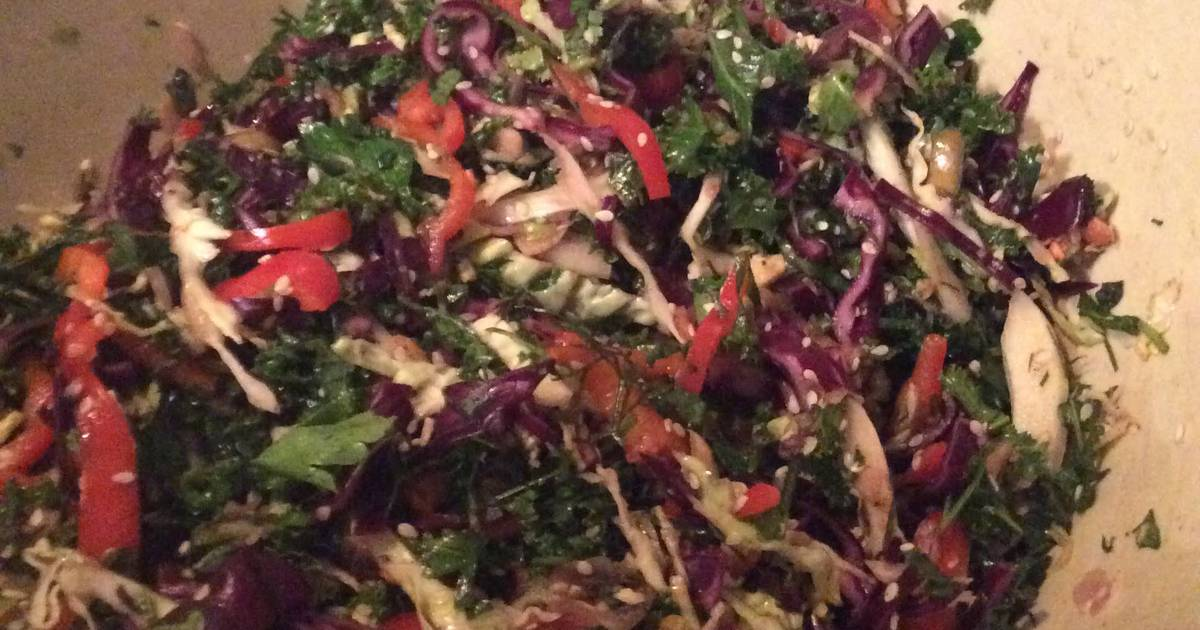 Raw Winter Vegetable Salad With Asian Dressing Recipe by Paul Wells ...