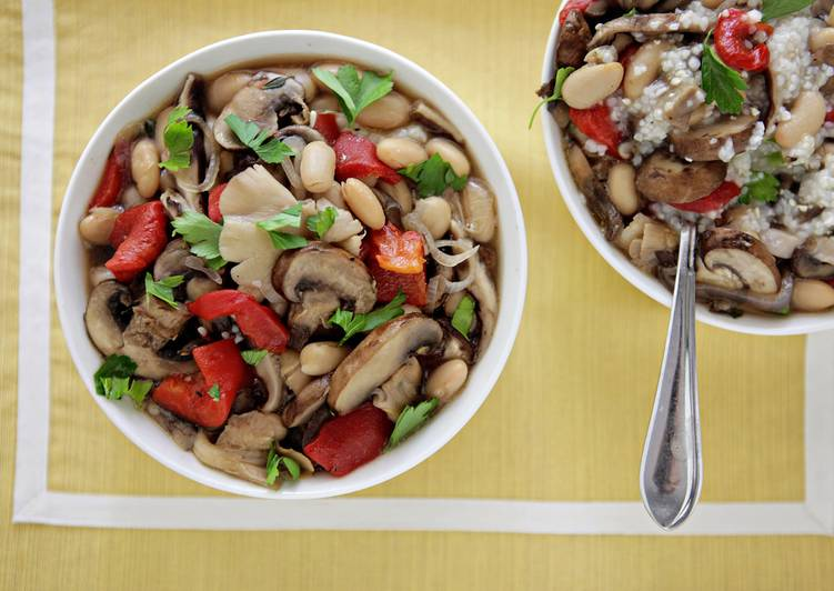 on Ragout of Mixed Mushrooms, Roasted Red Peppers and Cannellini Beans ...