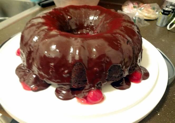 Black Forest Bundt Cake Using Cake Mix