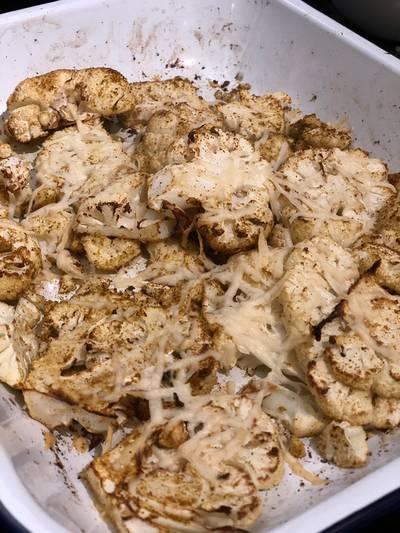Curried roast cauliflower with Pecorino Romano 🧀