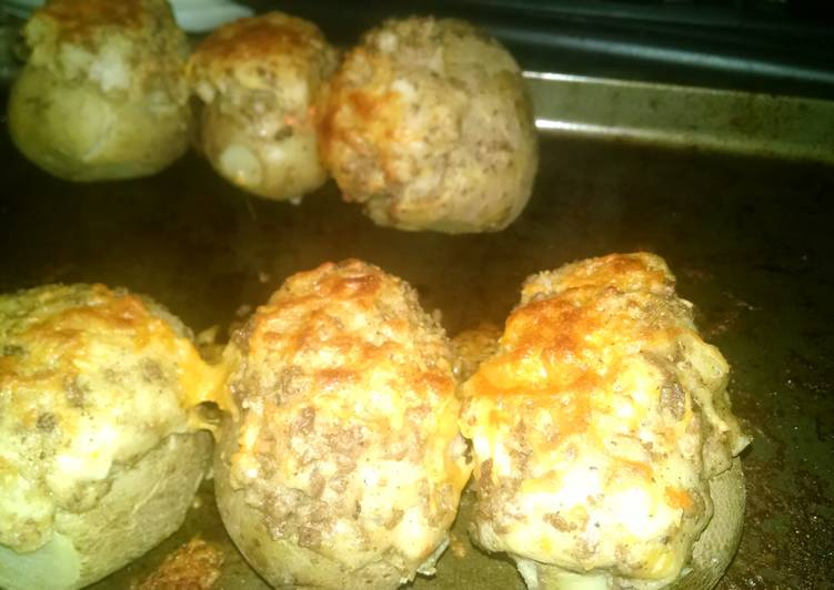 Shepherd's Pie Twice Baked Potatoes Recipe by Cheyenne ...