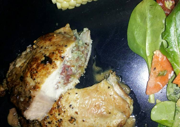 Bacon Chive Blue Cheese stuffed Pork Chops Recipe by ...