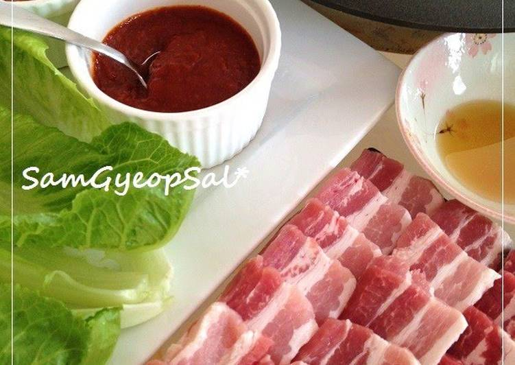 Samgyeopsal: Korean-style Pork Belly BBQ At Home Recipe by