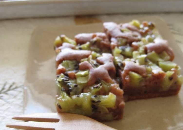 Rice Flour Cake Recipes Uk: Rice Flour Chocolate Cake With Kiwi Recipe By Cookpad