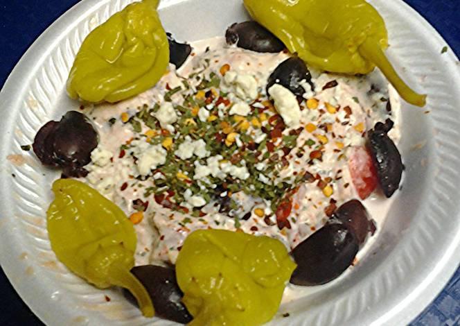 Resep Tuna and kalamata olive salad