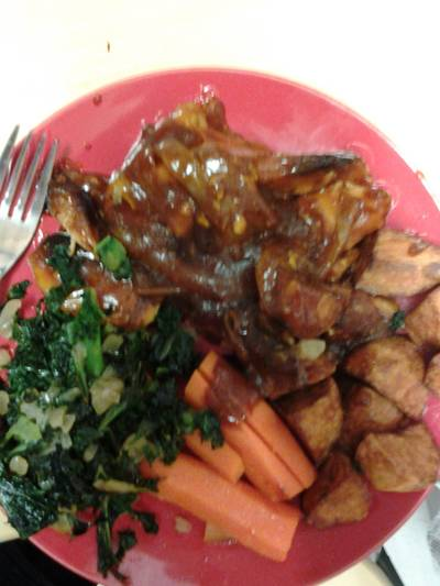 Sweet Chicken and Onion Kale