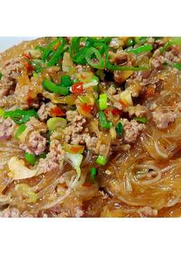 Green bean noodle with Minced Pork
